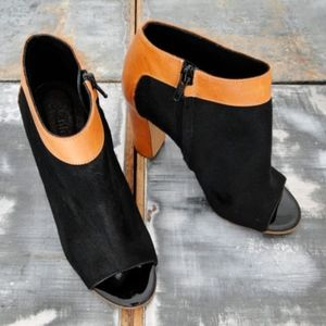 Chloe Pony Hair & Leather Ankle Boot